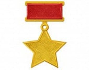 Military Medal Includes Both Applique and Stitched