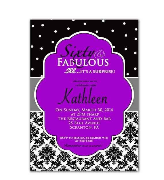 Custom 60Th Birthday Invitations with luxury invitation example
