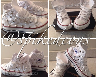 Youth converses sizes 10.5y-3y studded