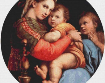 The Madonna of the Chair PDF Cross Stitch Pattern