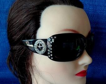 Texas Sunglasses, Lone Star Sunglasses,Blinged Sunglasses,Ladies Black Sunglasses