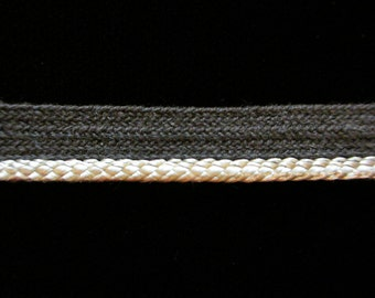 "R040 - CLEARANCE - ""Piping - Pale Gray 3/8"" (9mm) - Price Per 5 YARDS"