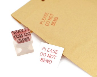 Please DO NOT BEND stamp, Envelope marking stamp, Shipping stamp, Shop supplies, Fragile stamp, S16
