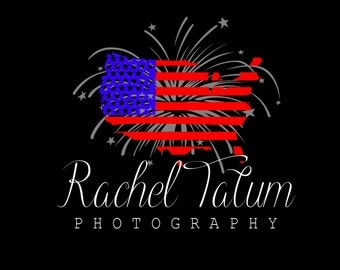 "INSTANT DOWNLOAD Custom Premade Photography Logo and Watermark ""4thofJuly"""