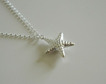 Starfish Necklace, Sterling Silver