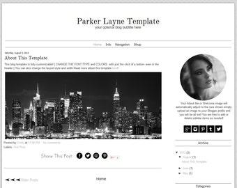 Premade Blogger Template -  Minimalist Blog Template - Mobile Responsive Blogger Template -Instant Download