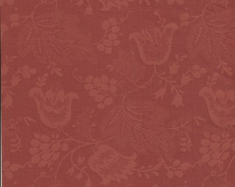 Dutch Chintz - Russet Brown - Ton sur Ton 1/2 yd
