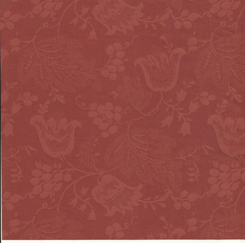 dutch chintz russet brown ton sur ton 1 2 yd. Black Bedroom Furniture Sets. Home Design Ideas