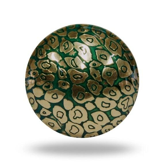 Hypnotic etch metal knob round ornate gold knob dresser for Knobs for bureau