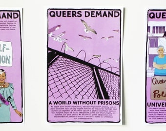 Poster: Queers Demand a World Without Prisons