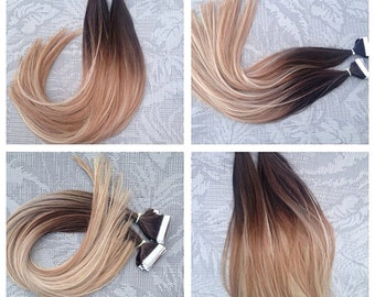 5 star ombre balayage european remy tape in seamless weft hair 5 star ombre balayage european remy tape in seamless weft hair extensions 40pcs pmusecretfo Choice Image