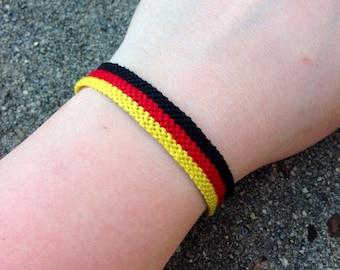 The German Flag Friendship Bracelet