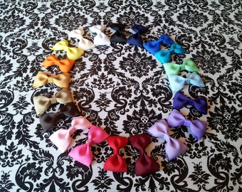 10 Tuxedo Hair Bow Set/You Pick Your Color/ Starter Set