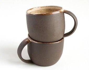 Two Almond Mugs