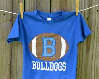 Personalized Initial Football Applique Shirt or Onesie