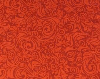 Per yard, Swirl Fabric Red From Windham
