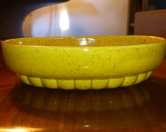 Vintage Haeger 73 USA yellow ceramic planter