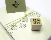 Rubberstamp - leaves ornament