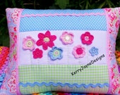 PATCHWORK PILLOW, Crochet cushion, Crochet pillow, crochet applique, Flower cushion, Pastels, Crochet flowers, Mothers day gift, KerryJayne