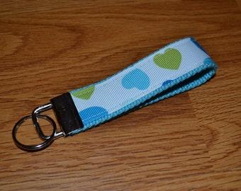 SALE! Blue Hearts Keychain