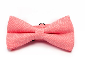 Mens bow tie - Pink bow tie - Polka dots bow tie - Pastel bow tie - Mens bowtie - Pink polka dots bow tie - Pink dots bow tie - Wedding tie