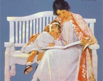 "8x10"" Cotton Canvas Print, Good Housekeeping Magazine Cover, June 1925, Jessie Willcox Smith"