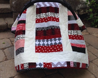 Car Seat Canopy, red and black