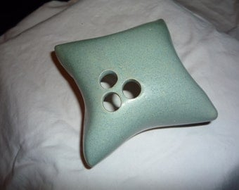 Clay Pillow Shaped Bud Vase