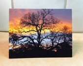 Beautiful Fall Sky Sunrise Photography, Set of 2 Photo Notecards, Ready to Ship