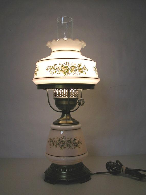Vintage Hurricane Lamp 1978 Quoizel Electric Gwtw Table Desk