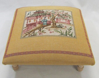 Corona Decor Co. Asia I Woven Footstool