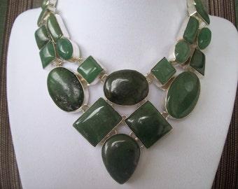 Green Quartz Statement Necklace