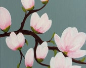 Original painting by Susan Whatling title: Magnolia Blossom 2