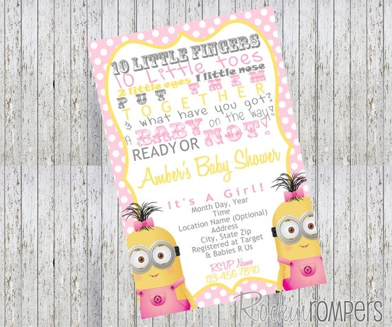 Minion Invites as awesome invitations ideas