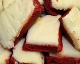 Homemade Red Velvet Fudge,  Old-Fashioned Fudge, Southern Desserts, Fudge by the Pound