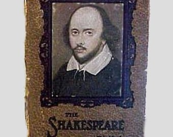 Rare Antique SHAKESPEARE BIRTHDAY-Date BOOK 1800's Shakespeare's Photo on Front