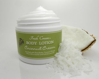 Body Lotion in Coconut Cream: Organic Hand and Body Moisturizer