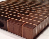 Walnut Brick Style End Grain Cutting Board