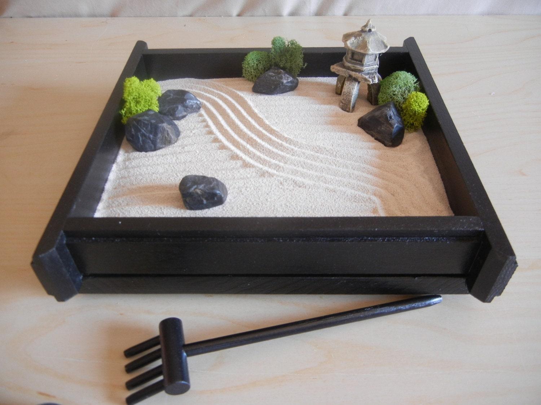 S 03 Small Desk Or Table Top Zen Garden With Pagoda Diy Kit