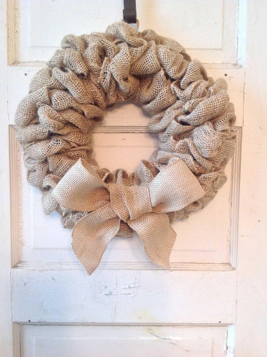burlap wreath with bow burlap home decor front door
