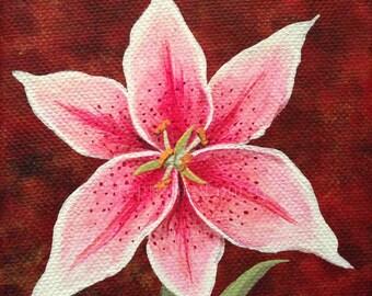 Original Lily Painting