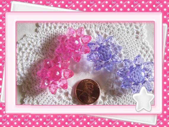 0: )- CABOCHON -( Flower 3d Puff Charms Large