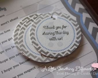 Baby Blue Carriage Collection:  Favor Tags