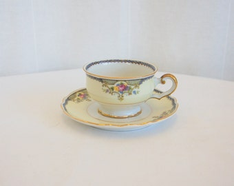 Vintage Paul Muller Selb China Teacup and Saucer made in Bavaria