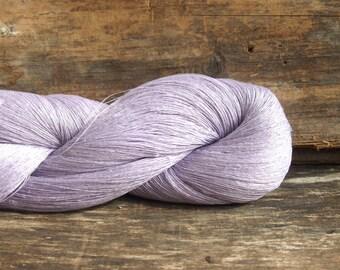 SALE - Linen Yarn, Pastel Purple Skein, High Quality, Linen Yarn For Crochet, Knitting