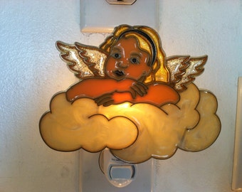 Angel in Clouds night Light with  4 watt  on/off switch