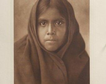 Qahatika Girl  The North American Indian, Edward S. Curtis, Photogravure, 1907