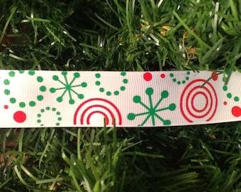 "Christmas grosgrain ribbon. 1"" wide, Ribbon, Christmas Ribbon, Christmas, Gift Wrap"