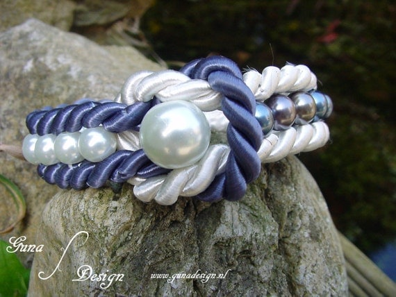 Tutorial -  Sailor Navy Beach Style Bracelet