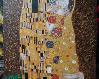 """The Kiss - Gustav Klimt - Reproduction painting oil painting on canvas 24""""X32"""""""